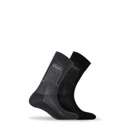 Lot de 2 paires de mi-chaussettes sport en coton