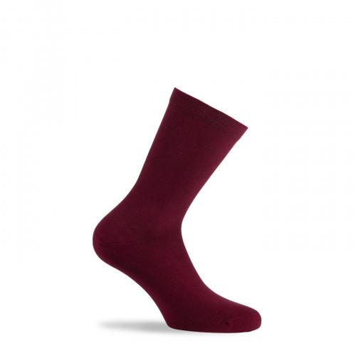 Chaussettes unies de couleur en pur coton