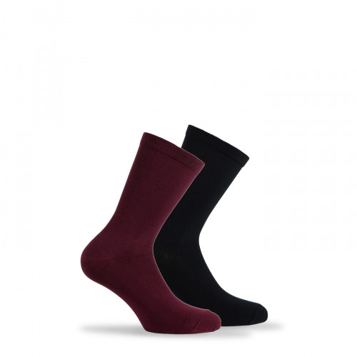 Lot de 2 paires de chaussettes unies en Modal
