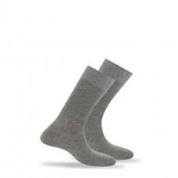 Pack 2 paires de mi-chaussettes en pur fil d'écosse anti-odeur