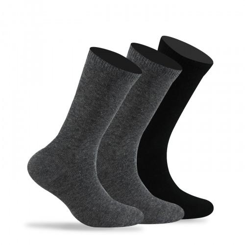 Lot de 3 paires de chaussettes unies en coton mélangé