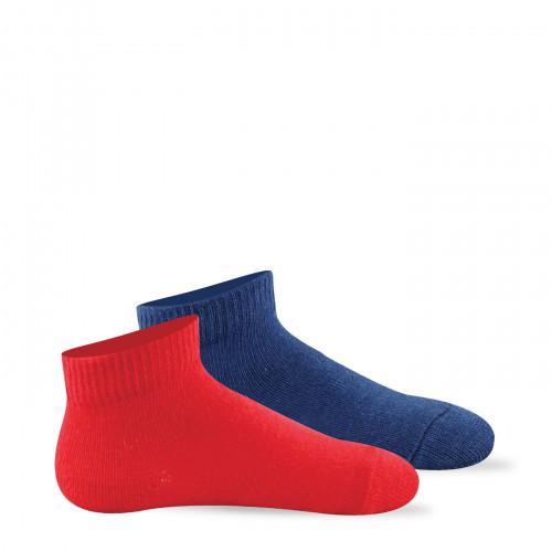 Lot de 2 paires de chaussettes ultra-courtes en pur coton