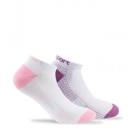 Lot de 2 paires de chaussettes invisibles sport