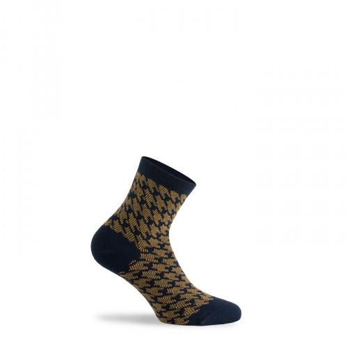 Socquettes motif pied de coq en pur coton