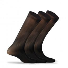 Lot de 3 paires de chaussettes unis en polyamide