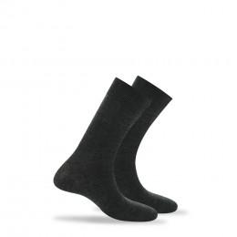 Lot de 2 paires de chaussettes unies anti-odeur