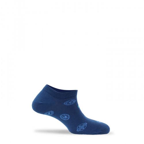 Chaussettes invisibles fantaisies en coton