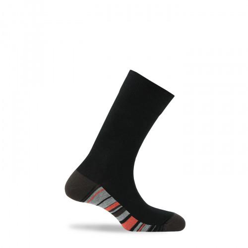 Mi-chaussettes semelles rayées en coton
