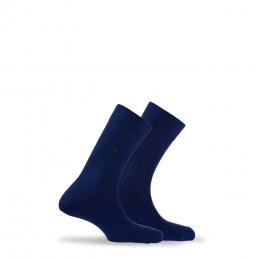 Lot de 2 paires de chaussettes fantaisies en coton