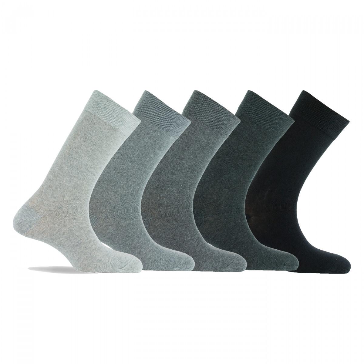 lot de 5 paires de chaussettes coton unies chaussettes. Black Bedroom Furniture Sets. Home Design Ideas