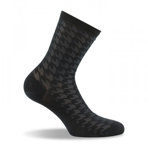 chaussettes femme en fil d'écosse noir